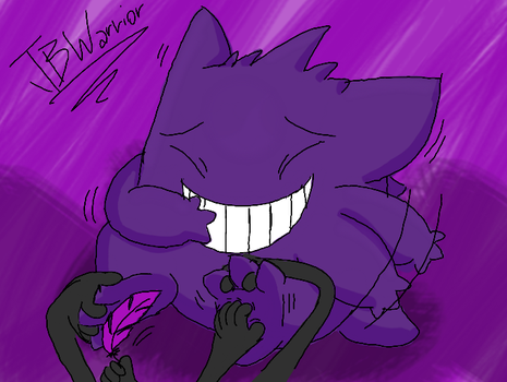 Side 3DS Doodles #004 - Gengar Tickling by JBWarrior