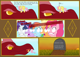 Fluttershy vs REAL Dragon by WarlordPete