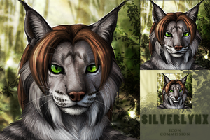 Silverlynx Icon Commission by DarkIceWolf