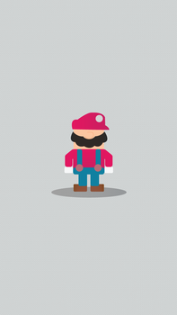 Smash-Bros-iPhone-Wallpapers---Mario by NumFive