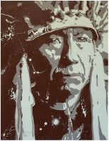 Nez Perce Indian by clayolsonart