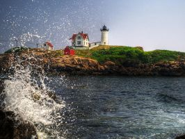 Nubble Lighthouse by cove314