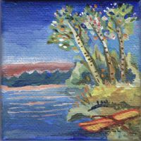 Tiny painting: Lakeside by jossujb
