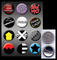 Soul Eater pinback buttons by eitanya