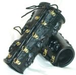 Stolen souls bracers in black, back side by GriffinLeather