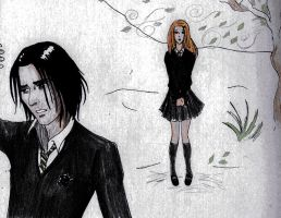 Harry Potter - Lily and Snape by PaulaTnT