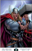Mighty Thor WW Chicago Print by adelsocorona