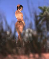 lara croft reef girl in the dunes by 7ipper