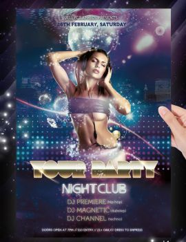 Nightclub Party Flyer Template by jellygraphics