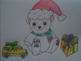 polar bear christmas card by crochetamommy