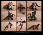 Secret Santa Plush: Dragon of the Woods by Avanii