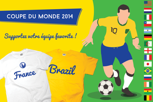 Coupe du monde 2014 by wordanscustomtshirts