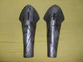 Samurai - Shin guards by IkasuTaiki