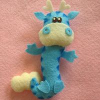Floating Dragon mini plushie by Mimi-Mushroom