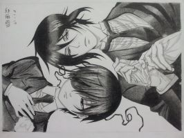 Sebastian Michaelis and Ciel Phantomhive by chocomisu