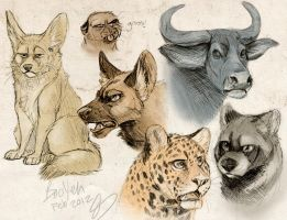 Sketch Animals by BooYeh