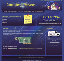 Computer repair website design by ChubbaART