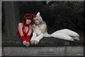Fox Ladies by Kolibrichen