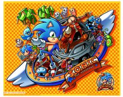 20th Sonic Anniversary by chicaramirez