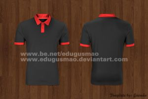 Template Blusa Polo by edugusmao