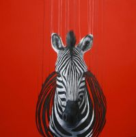 'Fragmented Freedom III - red' by LouiseMcNaught