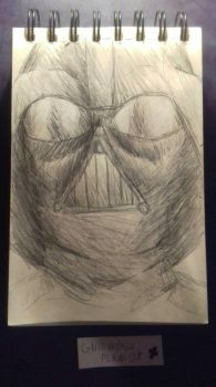 Daily drawing #1 Vader by GniewoszPlamisty