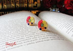 Mini fruit tarts post earrings 7 by Benia1991