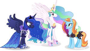 Celestia and luna in their new dresses. by Vector-Brony