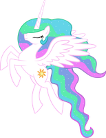 Princess Celestia Flying Vector by Rose5tar