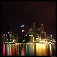 Singapore Skyline: Colours by chashmish