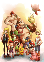 Summer Smash bros print by Sony-Shock