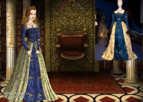 Katherine Howard-Bird Gown by EriksAngelOfMusic22