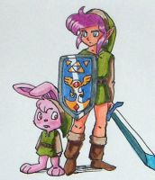 ALttP - Link and Bunny Link by Spirit-of-Twilight