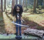 monster high custom repaint michonne mh by Rach-Hells-Dollhaus