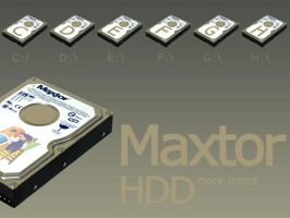 Maxtor HDD Dock Icons by bezem049