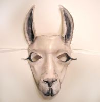Leather Mask of a Llama by teonova