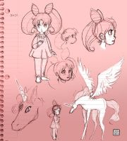 Rini and Helios - Sketch Dump by danee313