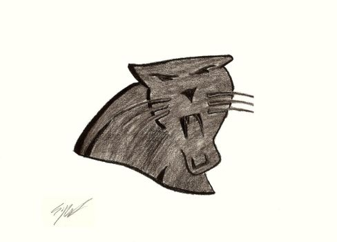 Drawing of Panther's Logo by tetsigawind