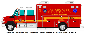 Psycho City Fire Dept. Medic 1 by MisterPSYCHOPATH3001
