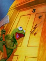 Kermit in The Shining by theCreativeRoy