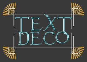 Art Deco Text Effect Tutorial by cazcastalla