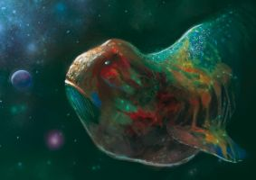Space Whale by elbardo
