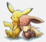 Eevee and Pikachu by Togechu