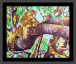 Leopard In A Sausage Tree by terrill