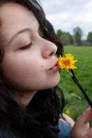 Kissing dandelions by Funnyandfree