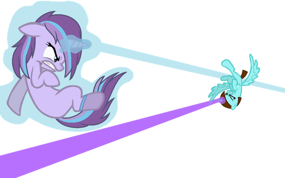 Marci and Night Dust's Battle by MelodiousMarci