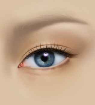 PAINTING EYE TUTORIAL_PART1 by AURORY