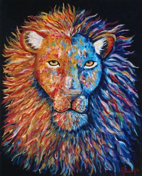 Acrylic Painting Lion by RebeccaSmethurst