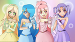 Pastel Precure full group by GetSquiddy