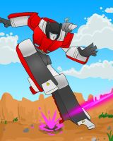 Sideswipe act. by OmegaSupreme